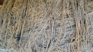 close up photo of wrapped brown twine